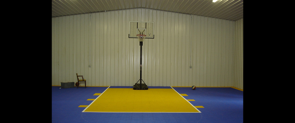 Basketball court in pole barn joy studio design gallery for Build indoor basketball court