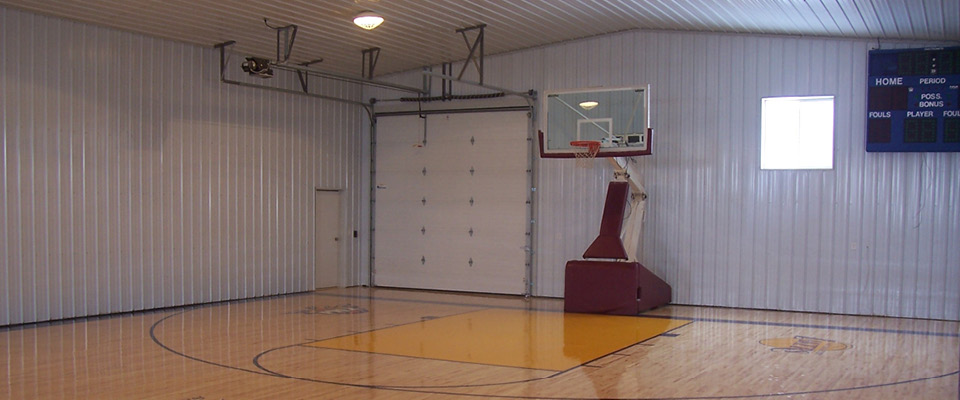 Indoor basketball court construction home design for Indoor basketball court price