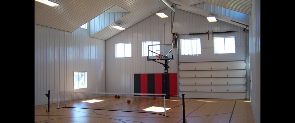 Photo gallery cleary building corp for Build indoor basketball court