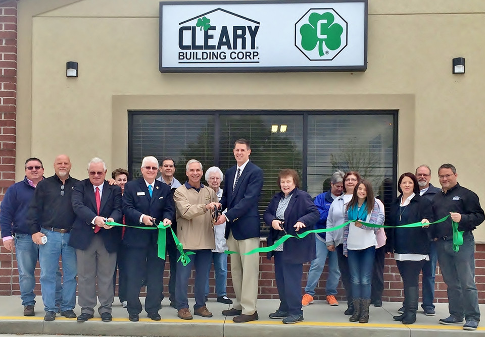 Pictured above, members of the Medina Chamber of Commerce join the Cleary Team for a Ribbon Cutting Ceremony at Cleary's new office.