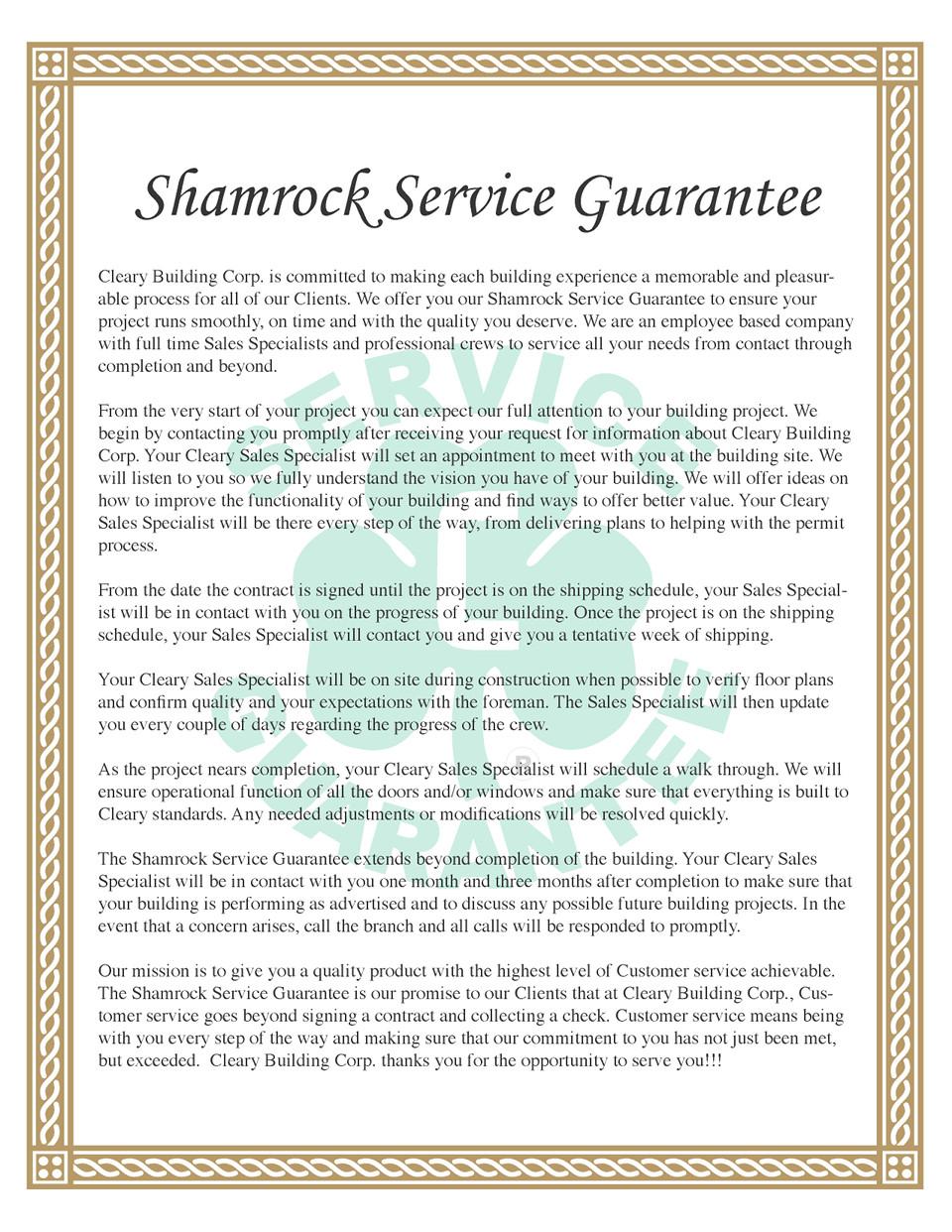 Service Guarantee 0410