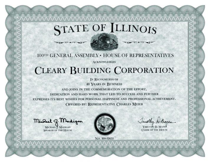 40th_IL_Certificate