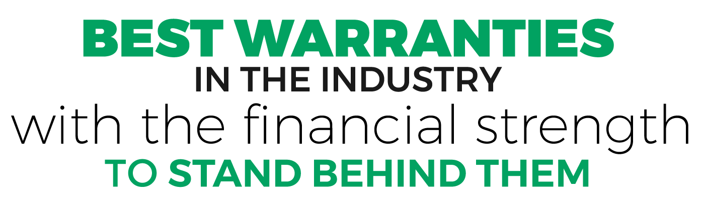 Best Warranties in the Industry