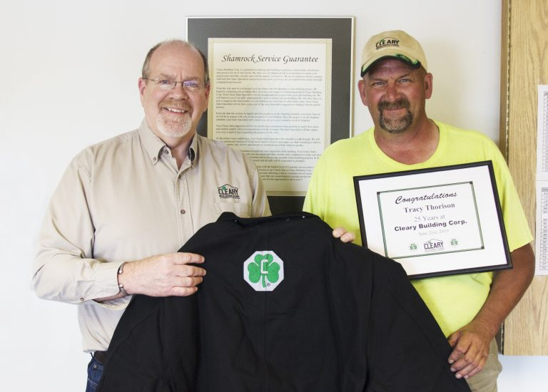 Cleary Building Corp. Employee Recognized For 25 Years Of Service