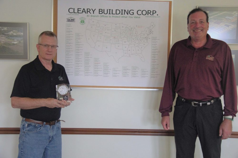 Cleary Building Corp. Employee Recognized For 40 Years Of Service