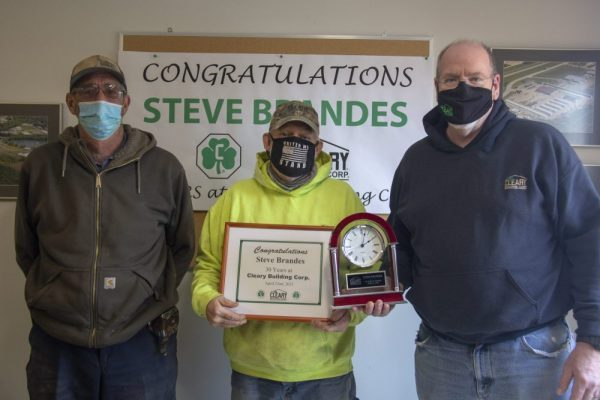 Cleary Building Corp. Employee Recognized For 30 Years Of Service